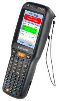 Mobile terminal equipped with the checking software Granit MobileCheckOrder™
