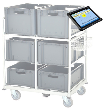 Order picking trolley equipped with Granit MultiPicking™